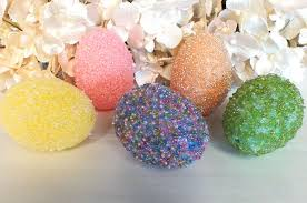 Decorating Easter Eggs With Beads by Easter Egg Candle Holder Two Sisters Crafting