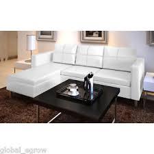 salon canape salon d angle en cuir divan canapé meuble sofa de coin