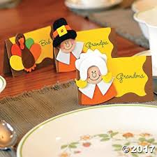 thanksgiving place card craft kit for 12 guests toys
