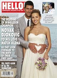 hello wedding dress novak djokovic marries fiancée ristic