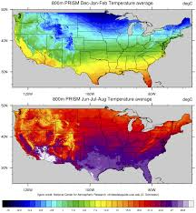 Colorado Temperature Map by Prism High Resolution Spatial Climate Data For The United States