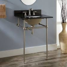 Console Sinks Bathroom Console Sink With Metal Legs Foter