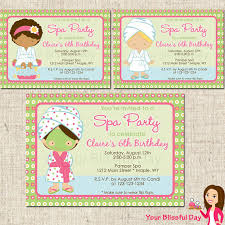 7 best images of spa party invitation printable free print spa
