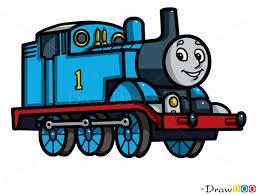 draw thomas cartoon characters