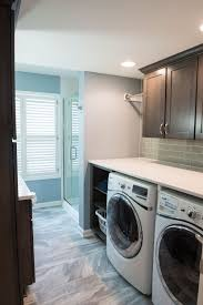 catchy large bathroom with laundry space decorating ideas