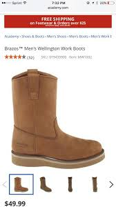 s boots in size 12 brazos s wellington work boots brown size 12 clothing shoes