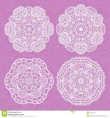 set of lace ornaments royalty free stock images image 34601459