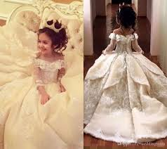vintage communion dresses vintage lace appliqued pageant dresses with sleeves gown