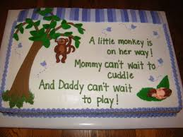 monkey baby shower cake monkey baby shower cake cake by judy remaly cakesdecor