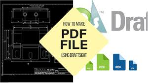 how to make a pdf file using draftsight youtube