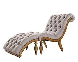 Tufted Chaise Lounge Amazon Com Classic Grey Linen Upholstered Tufted Chaise Lounge
