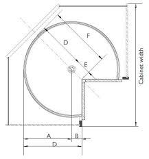 lazy susan cabinet sizes vauth sagel door mounted piecut lazy susan for corner cabinets