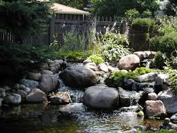 water fall feature landscape designs