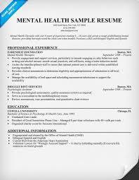 Mental Health Specialist Resume Ideas Collection Sample Resume Mental Health Counselor With