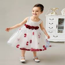 birthday dress new design white princess chiffon girl party wear western dresses