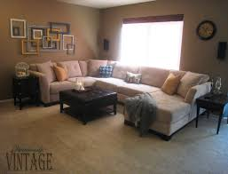 living room l shaped light brown leather couch with recliner