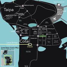 Hotels Las Vegas Strip Map by Cotai Strip Taipa Macau Casino Map Gif