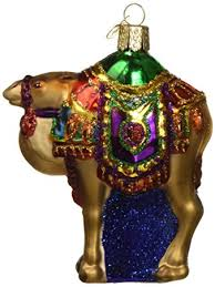 world magi s camel glass blown ornament
