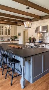 two tone kitchen cabinets with black countertops 50 black countertop backsplash ideas tile designs tips