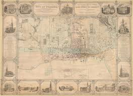 Map Of Toronto And New York by Historical Maps Of Toronto 1851 Fleming Topographical Plan Of The