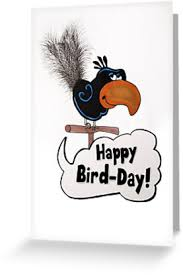 happy cards happy bird day greeting cards by pickledbeets redbubble