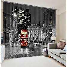 Office Curtain Aliexpress Com Buy London City Bus Mordern 3d Blackout Window