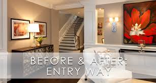stylish transitional entry before and after robeson design san