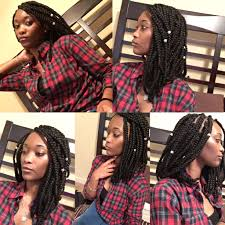 Shoulder Length Bob Box Braids Protective Style Protective