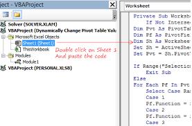 Change Pivot Table Data Range Change Pivot Table Values Field Using Vba Goodly