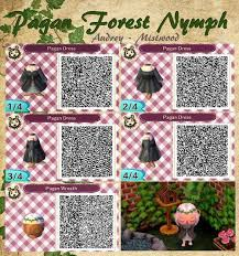animal crossing new leaf qr code hairstyle mistwood acnl pagan forest nymph dress hair wreath i hope