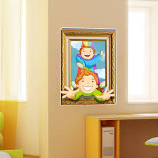 3d baby kids room cartoon children playing funny games wall decals