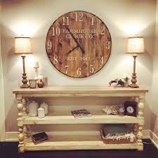 Wooden Wall Clock Farmhouse Clock Co Standard Numeral Wooden Wall Clock