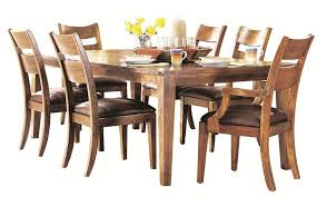 Klaussner Dining Room Furniture Urban Craftsmen 7 Piece Dining Table Set With 2 Arm Chairs And 4