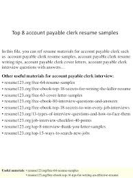 accounts payable resume exle accounts payable resumes