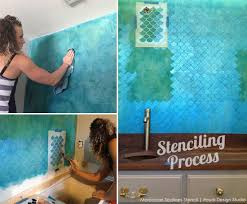 bathroom stencil ideas moroccan scallops furniture stencil wall stenciling moroccan and