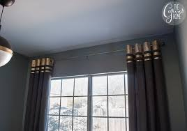 Leaf Curtains Ikea Diy Gold Leaf Embellished Curtains The Gathered Home