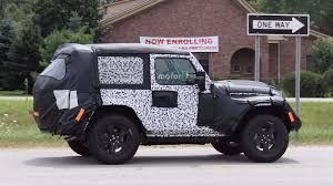 jeep truck 2018 spy photos 2018 jeep wrangler two door caught on road testing