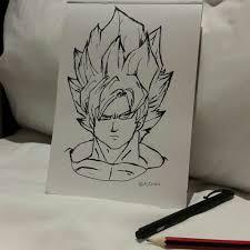 goku dragon ball z sketch by nimvis on deviantart