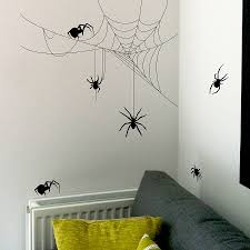 halloween spider and cobweb set wall stickers by nutmeg