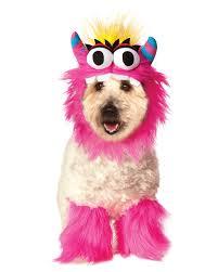 pink monster halloween costume pink monster dog costume for halloween horror shop com