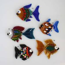 fused glass decoration small fish fused glass fusing