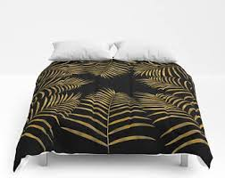 Duvet And Comforter Difference Palm Leaf Comforter Etsy