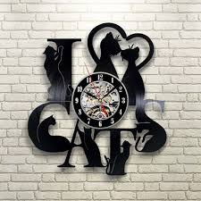 i love cats vinyl record wall clock 39 95 tick tock pinterest