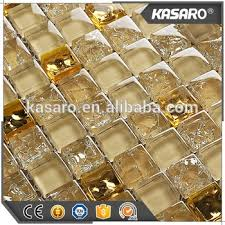 Hot Sale Kitchen Backsplash Tile Gold Color Glass Mosaic Tile - Backsplash tile sale
