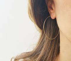 large gold hoop earrings best 25 gold hoops ideas on gold hoop earrings gold