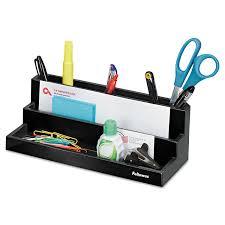 Black Wire Mesh Desk Accessories by Office Wire Mesh Desk Computer Organizer 3 Storage Compartements