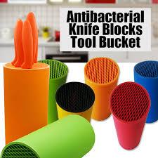 plastique cuisine multifonctionnel coloré en plastique couteau porte couteau de