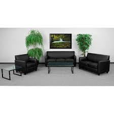 amazon com flash furniture hercules diplomat series black leather