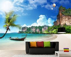 beibehang 3d wallpaper mediterranean summer beach coconut grove beibehang 3d wallpaper mediterranean summer beach coconut grove hot air balloon landscape tv wall mural wallpaper for walls 3 d in wallpapers from home