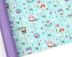 owl christmas wrapping paper owl wrapping paper etsy